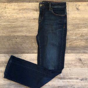 Eddie Bauer slim straight jeans in washed navy